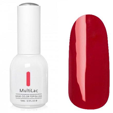 ruNail, MultiLac №2610 (15 мл.)Однофазный RuNail<br>Гель-лак 4 в 1, цвет спелая вишня<br>