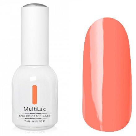 ruNail, MultiLac №2614 (15 мл.)Однофазный RuNail<br>Гель-лак 4 в 1, цвет светло-коралловый<br>