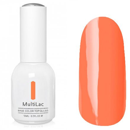 ruNail, MultiLac №2615 (15 мл.)Однофазный RuNail<br>Гель-лак 4 в 1, цвет абрикосовый<br>