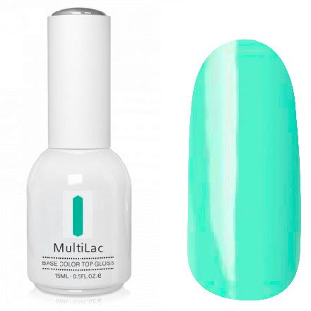 ruNail, MultiLac №2619 (15 мл.)Однофазный RuNail<br>Гель-лак 4 в 1, цвет океан<br>
