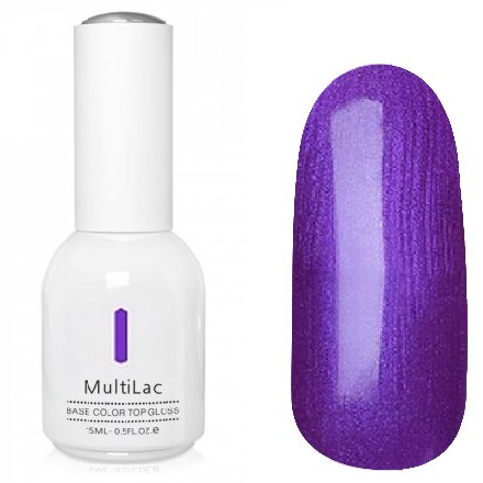 ruNail, MultiLac №2622 (15 мл.)Однофазный RuNail<br>Гель-лак 4 в 1, цвет фиолетовый с перламутром<br>