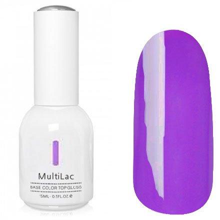 ruNail, MultiLac №2623 (15 мл.)Однофазный RuNail<br>Гель-лак 4 в 1, цвет фиолетовый<br>