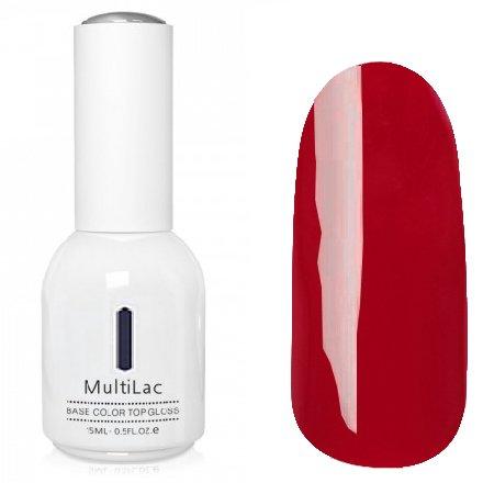 ruNail, MultiLac №2630 (15 мл.)Однофазный RuNail<br>Гель-лак 4 в 1, цвет малиново-красный<br>
