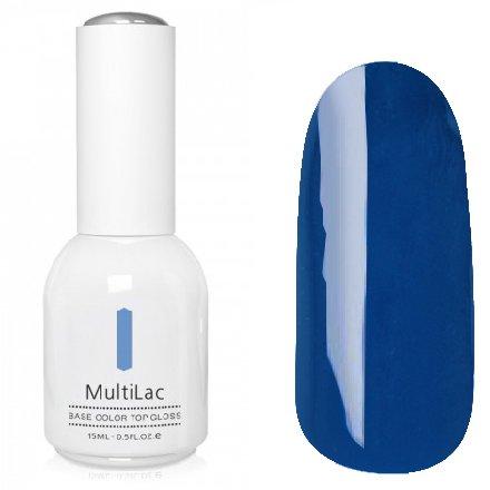 ruNail, MultiLac №2632 (15 мл.)Однофазный RuNail<br>Гель-лак 4 в 1, цвет синий<br>