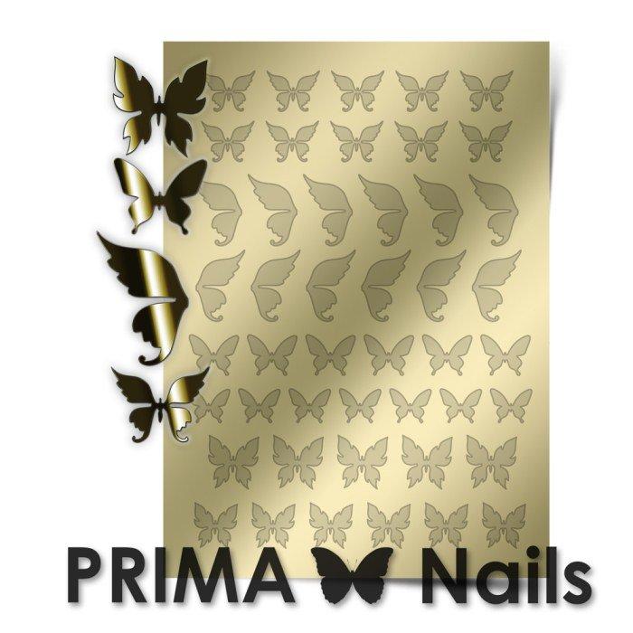 PrimaNails, Металлизированные наклейки для дизайна BF-001, ЗолотоМеталлизированные наклейки<br>Металлизированные наклейки PRIMA NAILS - модный тренд в дизайне ногтей, который актуален для любого сезона!<br>