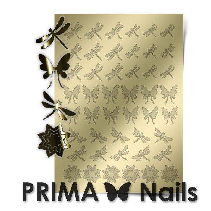 PrimaNails, Металлизированные наклейки для дизайна BF-002, ЗолотоМеталлизированные наклейки<br>Металлизированные наклейки PRIMA NAILS - модный тренд в дизайне ногтей, который актуален для любого сезона!<br>