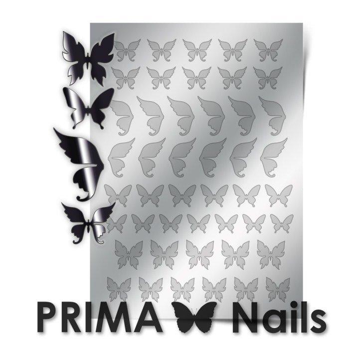 PrimaNails, Металлизированные наклейки для дизайна BF-001, СереброМеталлизированные наклейки<br>Металлизированные наклейки PRIMA NAILS - модный тренд в дизайне ногтей, который актуален для любого сезона!<br>