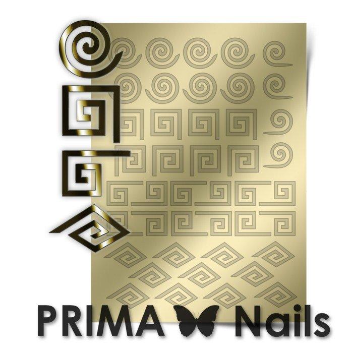 PrimaNails, Металлизированные наклейки для дизайна GM-001, ЗолотоМеталлизированные наклейки<br>Металлизированные наклейки PRIMA NAILS - модный тренд в дизайне ногтей, который актуален для любого сезона!<br>