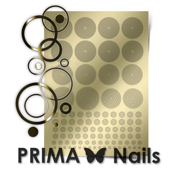 PrimaNails, Металлизированные наклейки для дизайна GM-002, ЗолотоМеталлизированные наклейки<br>Металлизированные наклейки PRIMA NAILS - модный тренд в дизайне ногтей, который актуален для любого сезона!<br>