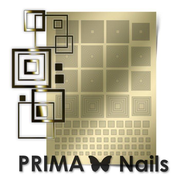 PrimaNails, Металлизированные наклейки для дизайна GM-003, ЗолотоМеталлизированные наклейки<br>Металлизированные наклейки PRIMA NAILS - модный тренд в дизайне ногтей, который актуален для любого сезона!<br>