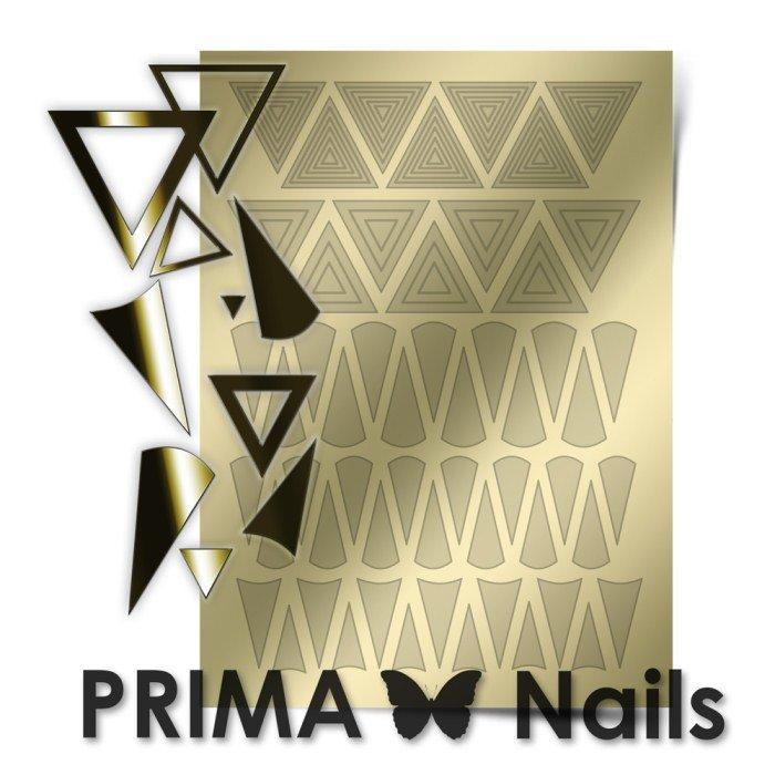 PrimaNails, Металлизированные наклейки для дизайна GM-004, ЗолотоМеталлизированные наклейки<br>Металлизированные наклейки PRIMA NAILS - модный тренд в дизайне ногтей, который актуален для любого сезона!<br>