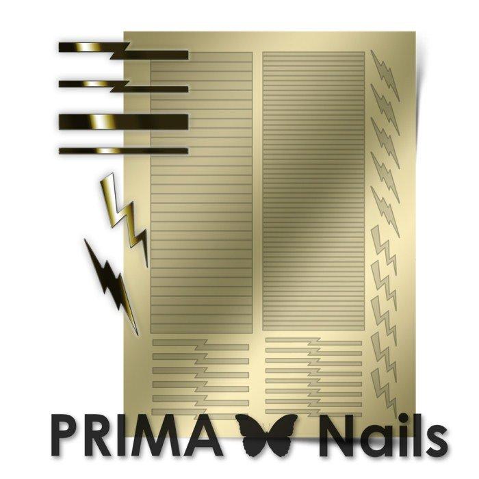 PrimaNails, Металлизированные наклейки для дизайна GM-005, ЗолотоМеталлизированные наклейки<br>Металлизированные наклейки PRIMA NAILS - модный тренд в дизайне ногтей, который актуален для любого сезона!<br>