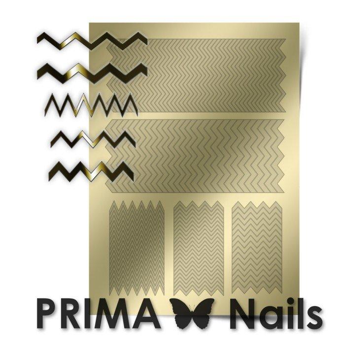 PrimaNails, Металлизированные наклейки для дизайна GM-006, ЗолотоМеталлизированные наклейки<br>Металлизированные наклейки PRIMA NAILS - модный тренд в дизайне ногтей, который актуален для любого сезона!<br>