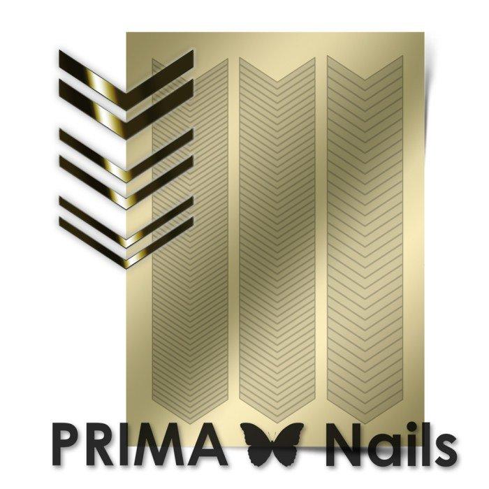 PrimaNails, Металлизированные наклейки для дизайна GM-007, ЗолотоМеталлизированные наклейки<br>Металлизированные наклейки PRIMA NAILS - модный тренд в дизайне ногтей, который актуален для любого сезона!<br>