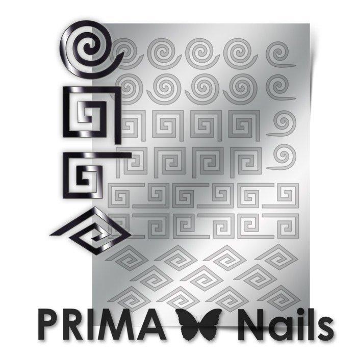 PrimaNails, Металлизированные наклейки для дизайна GM-001, СереброМеталлизированные наклейки<br>Металлизированные наклейки PRIMA NAILS - модный тренд в дизайне ногтей, который актуален для любого сезона!<br>