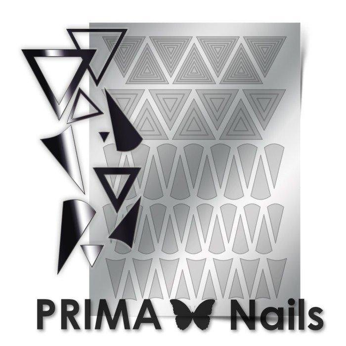 PrimaNails, Металлизированные наклейки для дизайна GM-004, СереброМеталлизированные наклейки<br>Металлизированные наклейки PRIMA NAILS - модный тренд в дизайне ногтей, который актуален для любого сезона!<br>