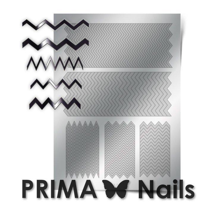 PrimaNails, Металлизированные наклейки для дизайна GM-006, СереброМеталлизированные наклейки<br>Металлизированные наклейки PRIMA NAILS - модный тренд в дизайне ногтей, который актуален для любого сезона!<br>