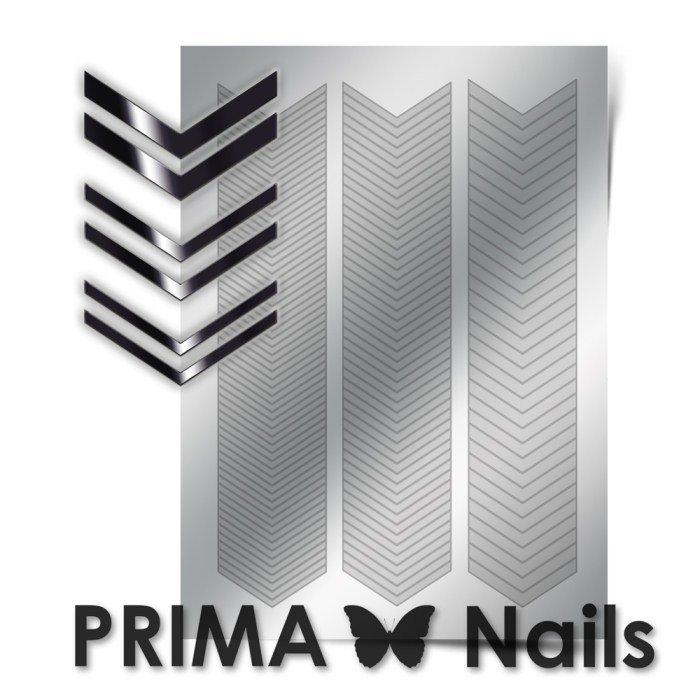PrimaNails, Металлизированные наклейки для дизайна GM-007, СереброМеталлизированные наклейки<br>Металлизированные наклейки PRIMA NAILS - модный тренд в дизайне ногтей, который актуален для любого сезона!<br>