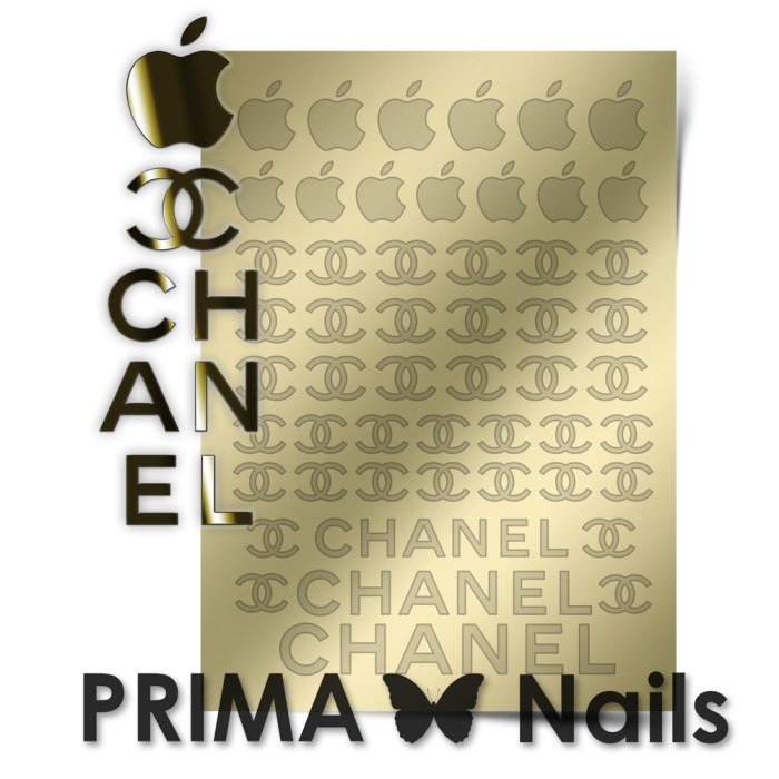 PrimaNails, Металлизированные наклейки для дизайна FSH-001, ЗолотоМеталлизированные наклейки<br>Металлизированные наклейки PRIMA NAILS - модный тренд в дизайне ногтей, который актуален для любого сезона!<br>