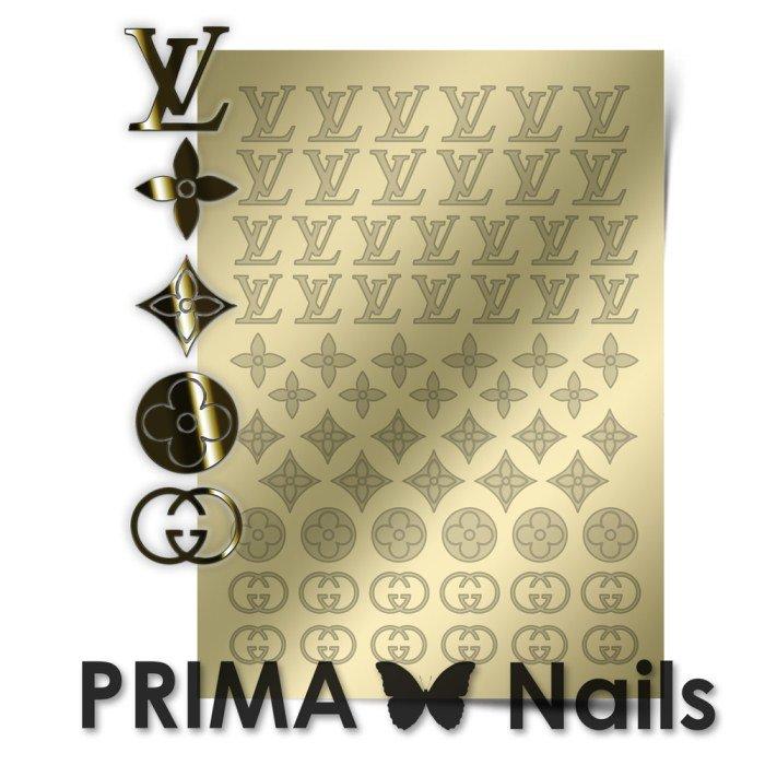 PrimaNails, Металлизированные наклейки для дизайна FSH-002, ЗолотоМеталлизированные наклейки<br>Металлизированные наклейки PRIMA NAILS - модный тренд в дизайне ногтей, который актуален для любого сезона!<br>