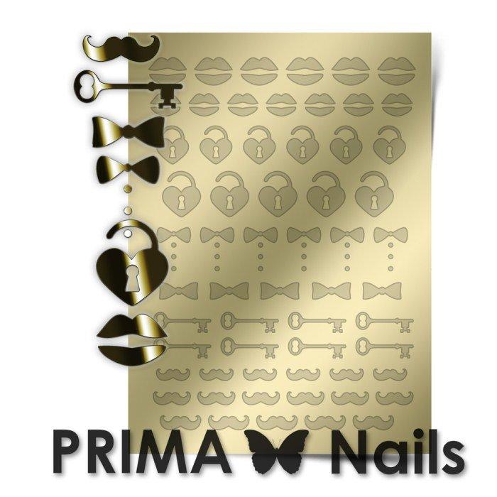 PrimaNails, Металлизированные наклейки для дизайна FSH-004, ЗолотоМеталлизированные наклейки<br>Металлизированные наклейки PRIMA NAILS - модный тренд в дизайне ногтей, который актуален для любого сезона!<br>