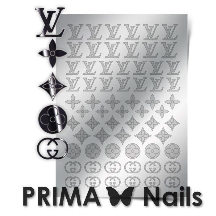 PrimaNails, Металлизированные наклейки для дизайна FSH-002, СереброМеталлизированные наклейки<br>Металлизированные наклейки PRIMA NAILS - модный тренд в дизайне ногтей, который актуален для любого сезона!<br>