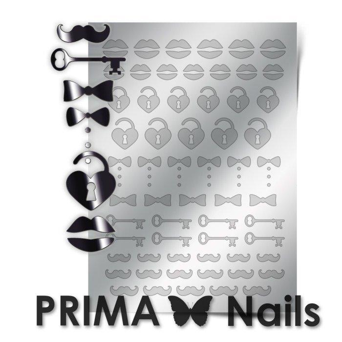 PrimaNails, Металлизированные наклейки для дизайна FSH-004, СереброМеталлизированные наклейки<br>Металлизированные наклейки PRIMA NAILS - модный тренд в дизайне ногтей, который актуален для любого сезона!<br>