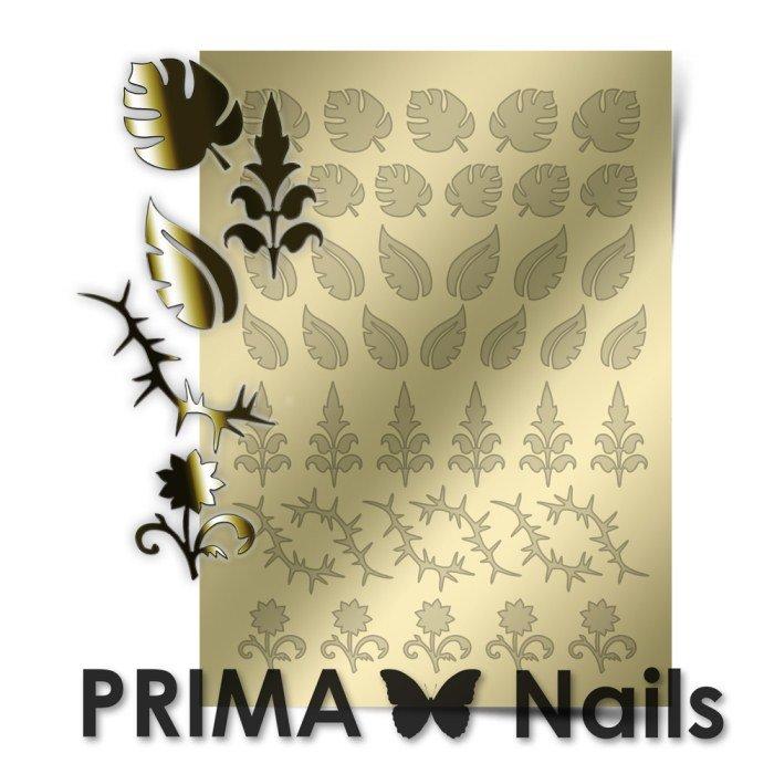 PrimaNails, Металлизированные наклейки для дизайна FL-003, ЗолотоМеталлизированные наклейки<br>Металлизированные наклейки PRIMA NAILS - модный тренд в дизайне ногтей, который актуален для любого сезона!<br>