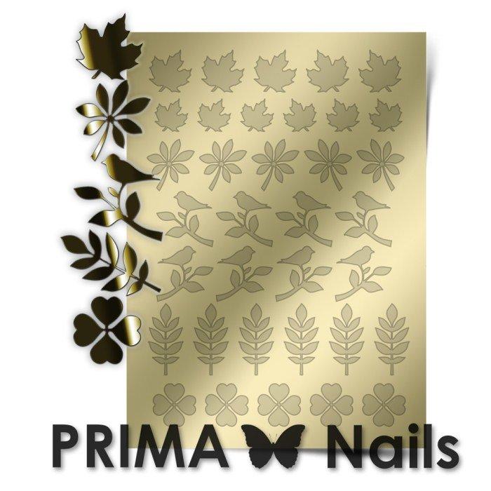 PrimaNails, Металлизированные наклейки для дизайна FL-005, ЗолотоМеталлизированные наклейки<br>Металлизированные наклейки PRIMA NAILS - модный тренд в дизайне ногтей, который актуален для любого сезона!<br>