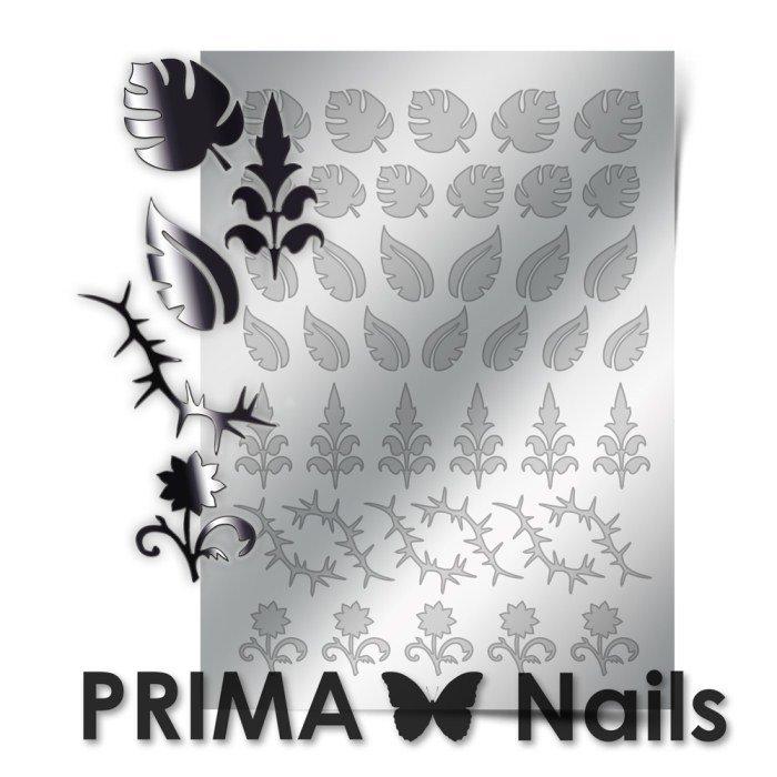 PrimaNails, Металлизированные наклейки для дизайна FL-003, СереброМеталлизированные наклейки<br>Металлизированные наклейки PRIMA NAILS - модный тренд в дизайне ногтей, который актуален для любого сезона!<br>