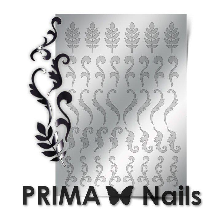 PrimaNails, Металлизированные наклейки для дизайна FL-004, СереброМеталлизированные наклейки<br>Металлизированные наклейки PRIMA NAILS - модный тренд в дизайне ногтей, который актуален для любого сезона!<br>