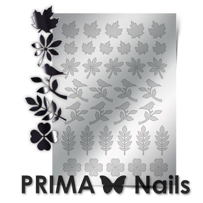 PrimaNails, Металлизированные наклейки для дизайна FL-005, СереброМеталлизированные наклейки<br>Металлизированные наклейки PRIMA NAILS - модный тренд в дизайне ногтей, который актуален для любого сезона!<br>