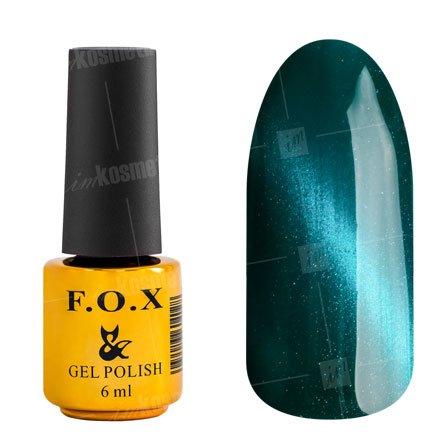 F.O.X, Гель-лак - Cat Eye №008 (6 ml.)F.O.X<br>Гель-лак кошачий глаз, бирюзовый, перламутровый, плотный<br>