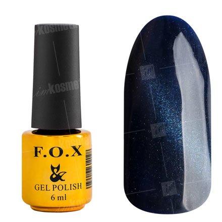 F.O.X, Гель-лак - Cat Eye №029 (6 ml.)F.O.X<br>Гель-лак кошачий глаз, темная ночь, перламутровый, плотный<br>