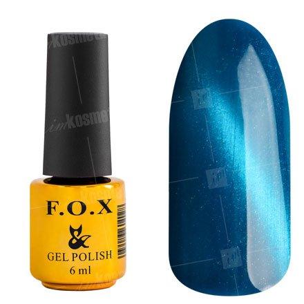 F.O.X, Гель-лак - Cat Eye №076 (6 ml.)F.O.X<br>Гель-лак кошачий глаз, синий, перламутровый, плотный<br>