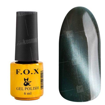 F.O.X, Гель-лак - Cat Eye №134 (6 ml.)F.O.X<br>Гель-лак кошачий глаз, серый, перламутровый, плотный<br>