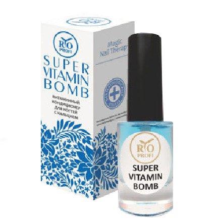Rio Profi, Super Vitamin Bomb - Лечебный Витаминный Кондиционер с кальцием (8 мл.)Укрепляющая система RIO Profi<br>Лечебный Витаминный Кондиционер с кальцием<br>