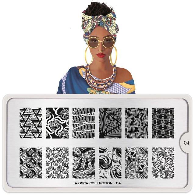 MoYou London, Пластина для стемпинга Africa 04Пластины для стемпинга MoYou London<br>Коллекция Africa.<br>
