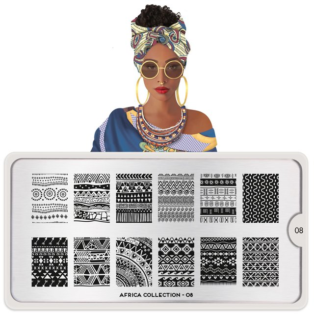 MoYou London, Пластина для стемпинга Africa 08Пластины для стемпинга MoYou London<br>Коллекция Africa.<br>