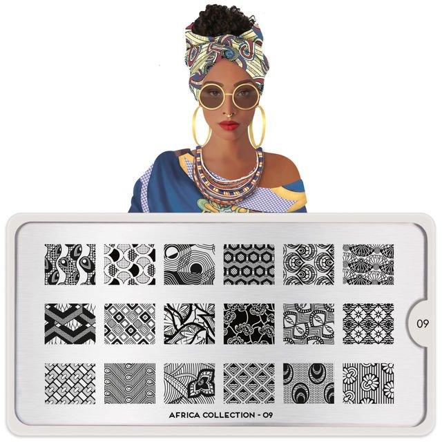 MoYou London, Пластина для стемпинга Africa 09Пластины для стемпинга MoYou London<br>Коллекция Africa.<br>