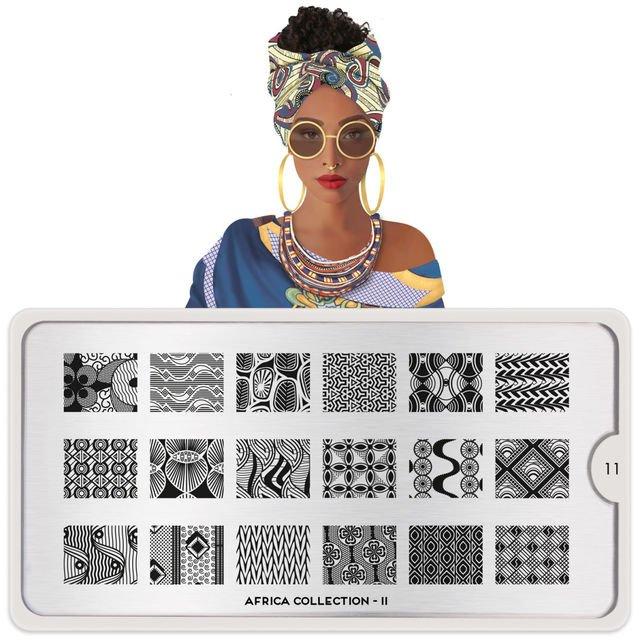 MoYou London, Пластина для стемпинга Africa 11Пластины для стемпинга MoYou London<br>Коллекция Africa.<br>