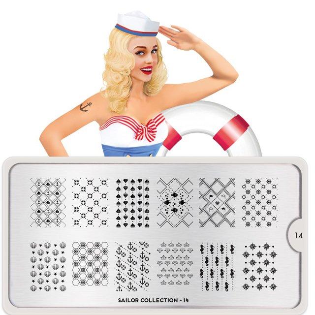 Пластина MoYou London Sailor 14Пластины для стемпинга MoYou London<br>Коллекция Sailor<br>