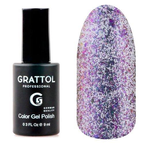 Grattol, Гель-лак - Galaxy Amethyst №002 (9 мл.)Grattol<br>Фиолетовый гель лак, с эффектом хамелеон, плотный, с синими блестками<br>