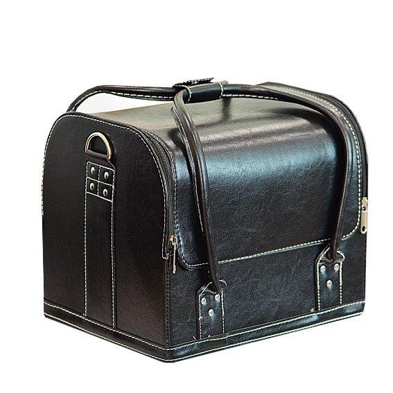TNL, Кейс маникюриста, гладкая кожа (Черный)Сопутствующие материалы<br>Cовременный кейс предназначен для хранения маникюрных и педикюрных инструментов.<br>