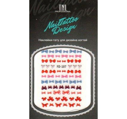 TNL, Наклейка-тату для дизайна FD-107Наклейка-тату для дизайна TNL<br>Наклейка-тату для дизайна<br>