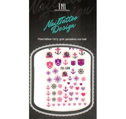 TNL, Наклейка-тату для дизайна FD-108Наклейка-тату для дизайна TNL<br>Наклейка-тату для дизайна<br>
