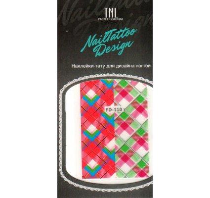 TNL, Наклейка-тату для дизайна FD-110Наклейка-тату для дизайна TNL<br>Наклейка-тату для дизайна<br>