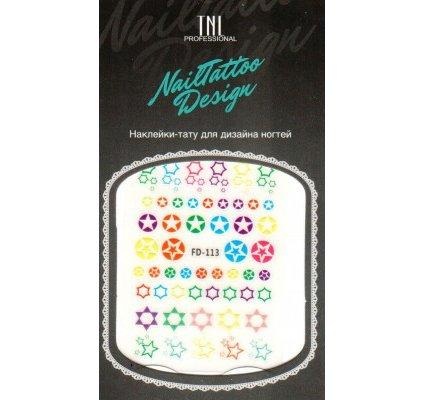 TNL, Наклейка-тату для дизайна FD-113Наклейка-тату для дизайна TNL<br>Наклейка-тату для дизайна<br>