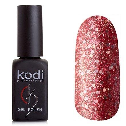Kodi, Гель-лак № 198 (8ml)Kodi Professional <br>Гель-лаквишневый с большим количеством мелких и крупных блесток, плотный,8мл.<br>