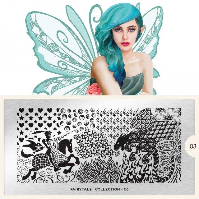 Пластина MoYou London Fairytale 03Пластины для стемпинга MoYou London<br>Коллекция Fairytale<br>